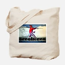French Alps Skiing Tote Bag