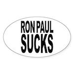 Ron Paul Sucks Oval Sticker (10 pk)