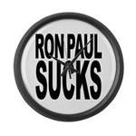 Ron Paul Sucks Large Wall Clock
