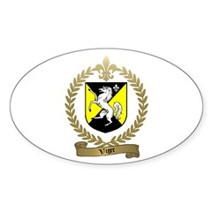 VIGER Family Crest Oval Decal