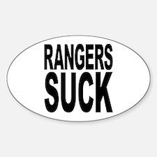 Rangers Suck Oval Decal
