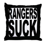 Rangers Suck Throw Pillow
