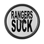 Rangers Suck Large Wall Clock