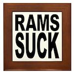 Rams Suck Framed Tile