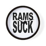Rams Suck Wall Clock