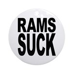Rams Suck Ornament (Round)