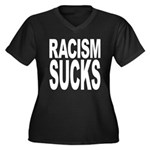 Racism Sucks Women's Plus Size V-Neck Dark T-Shirt