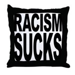 Racism Sucks Throw Pillow