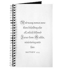 MATTHEW 27:55 Journal