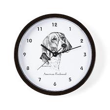 American Foxhound Wall Clock