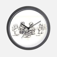 """Deadlands"" Teddy Bears Wall Clock"