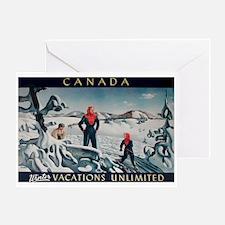 Ski Skiing Canada Greeting Card
