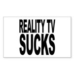 Reality TV Sucks Rectangle Sticker