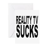 Reality TV Sucks Greeting Cards (Pk of 20)