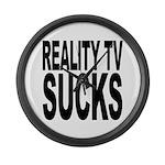 Reality TV Sucks Large Wall Clock