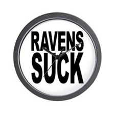 Ravens Suck Wall Clock