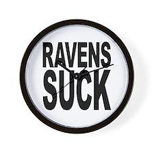 Ravens Suck Wall Clock