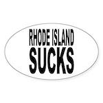 Rhode Island Sucks Oval Sticker (10 pk)