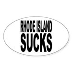 Rhode Island Sucks Oval Sticker (50 pk)