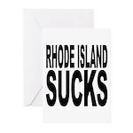Rhode Island Sucks Greeting Cards (Pk of 10)