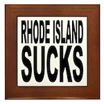 Rhode Island Sucks Framed Tile