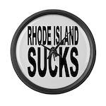 Rhode Island Sucks Large Wall Clock