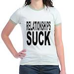 Relationships Suck Jr. Ringer T-Shirt