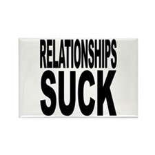 Relationships Suck Rectangle Magnet