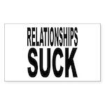 Relationships Suck Rectangle Sticker