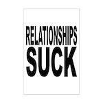 Relationships Suck Mini Poster Print