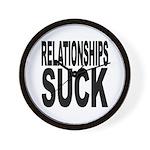 Relationships Suck Wall Clock
