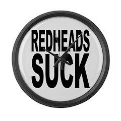 Redheads Suck Large Wall Clock