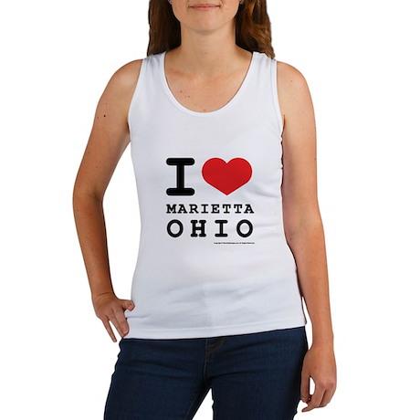 I Love Marietta, Ohio Women's Tank Top