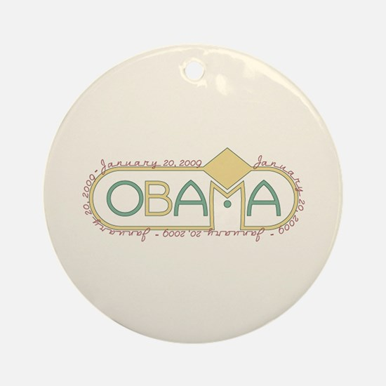 Obama Inauguration Keepsake Ornament (Round)