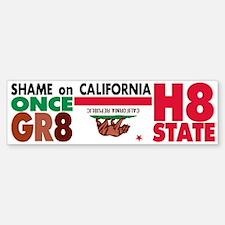 Shame on California; Proposition H8 Bumper Bumper Sticker