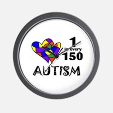 Autism (1 in every 150) Wall Clock