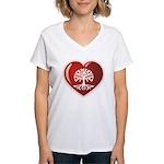 Heart Genealogy Women's V-Neck T-Shirt