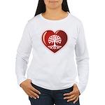 Heart Genealogy Women's Long Sleeve T-Shirt