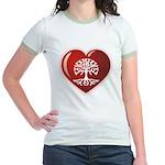 Heart Genealogy Jr. Ringer T-Shirt