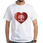 Heart Genealogy White T-Shirt