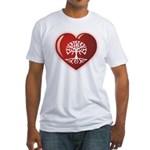 Heart Genealogy Fitted T-Shirt