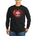 Heart Genealogy Long Sleeve Dark T-Shirt