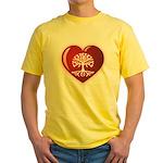 Heart Genealogy Yellow T-Shirt