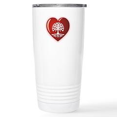 Heart Genealogy Travel Mug