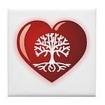 Heart Genealogy Tile Coaster