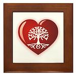 Heart Genealogy Framed Tile