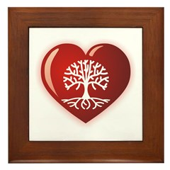 Heart Genealogy Framed Tile