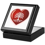 Heart Genealogy Keepsake Box