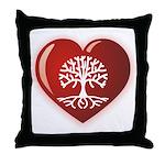 Heart Genealogy Throw Pillow