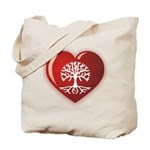 Heart Genealogy Tote Bag